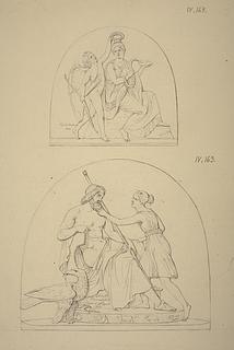 Hygieia og Amor. Diana og Jupiter