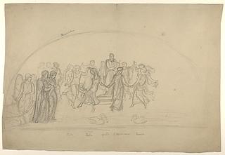 Apollon og de ni muser på Parnasset, til lunette dekoration(?)