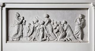 Den hellige nadver indstiftes, marmor, Vor Frue Kirke
