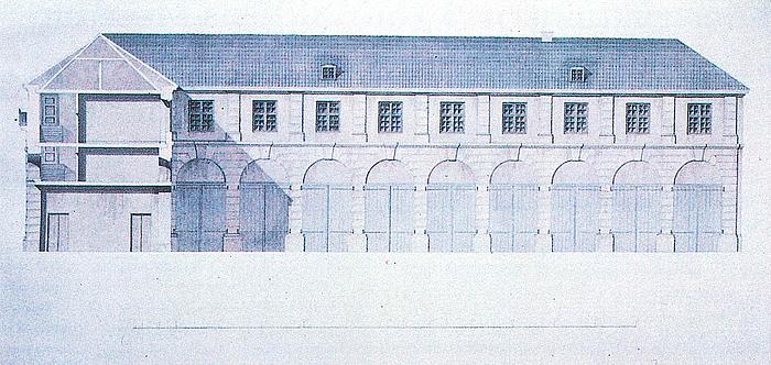 C.F. Hansen Den kgl. Vogngård, 1820