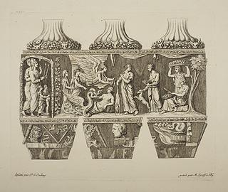 Vase med antikt motiv