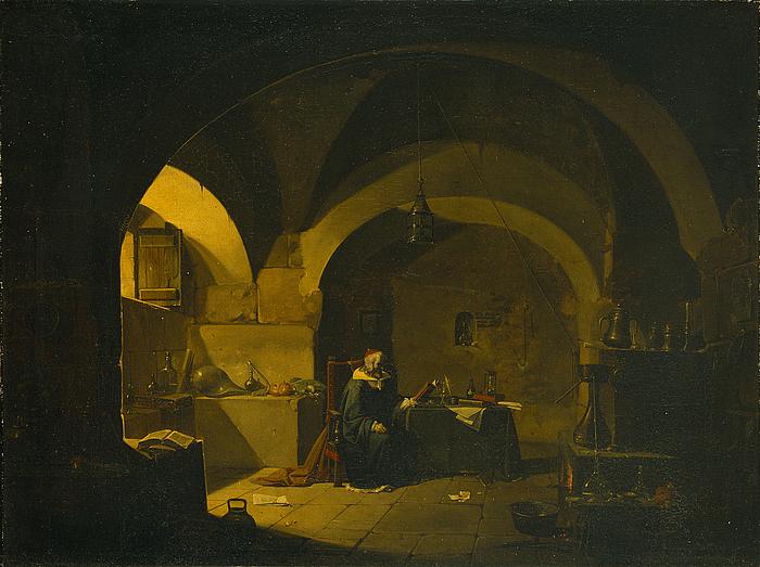 En kemiker i sit laboratorium
