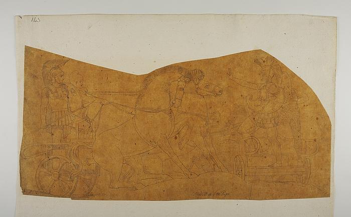 Hektor beordrer sin hær at forsvare Troja mod grækerne