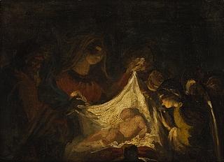 Jomfru Maria med den nyfødte Jesus
