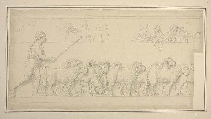 Hyrdedrengen med sin fåreflok