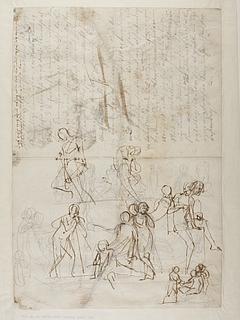 Figurstudier til gravmæle over Johann Philipp Bethmann-Hollweg
