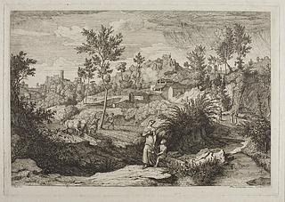 Landskabskomposition i italiensk stil