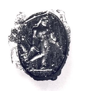 Apollon med bue og pil. Romersk republikansk paste
