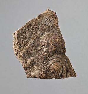 Campanarelief med hoved af silen. Romersk
