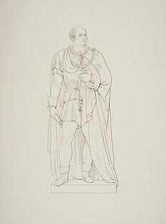 Mand i klædedragt fra omkring 1600