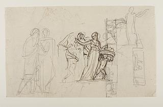 To kaldæiske astrologer og persiske kvinder til Alexander den Stores indtog i Babylon