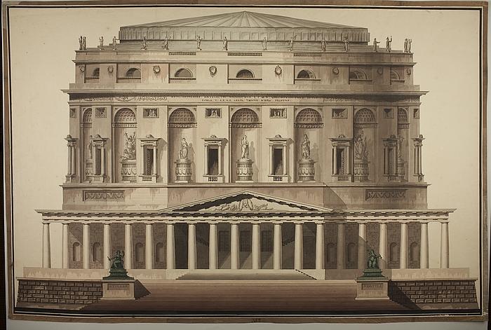 Teater, opstalt af facade