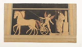 Amorin står op i sin vogn ved væddeløbets start