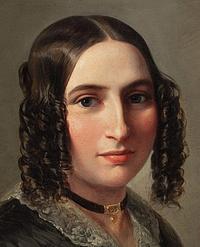 Moritz Oppenheim: Fanny Hensel, detalje