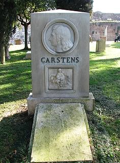 Asmus Jacob Carstens' grav på den protestantiske kirkegård i Rom