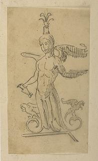 Ornamental harpyie (?) figur