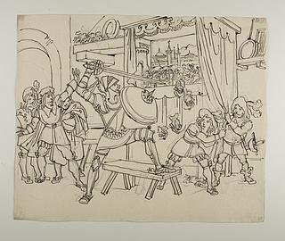 Don Quixote angriber marionet teateret