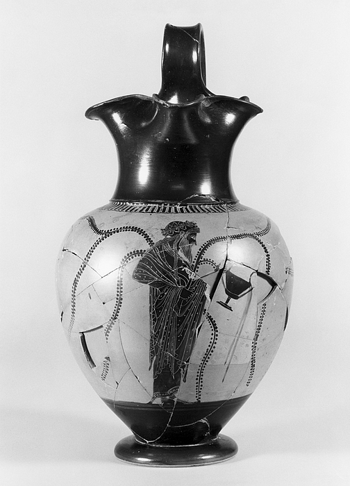Oinochoe med Dionysos. Græsk