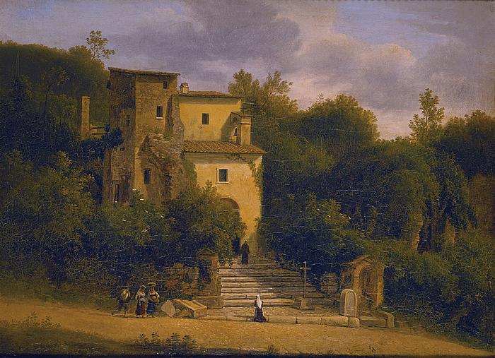 Et kapel på vejen mellem Albano og Ariccia