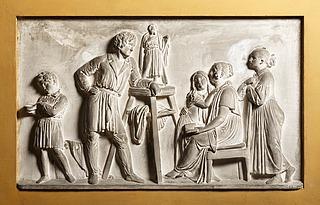 Bertel Thorvaldsen: Selbstbildnis mit der Familie Stampe, 1840