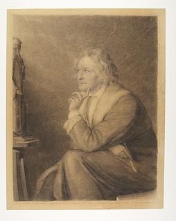 Thorvaldsen i hans romerske atelier