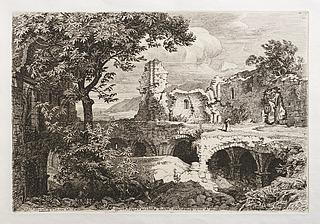 Ruine di una chiesa dall antica Fortona negli Abruzzi