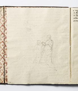 Maria (?) viser sig for to munke