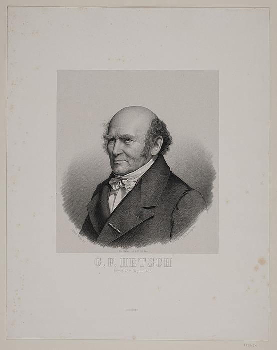 L.A. Kornerup efter forlæg af J.V. Gertner: G. F. Hetsch, 1855