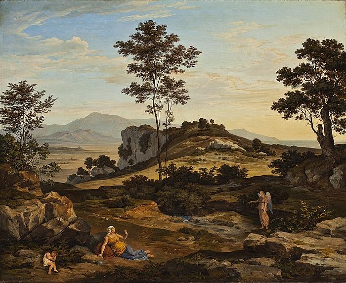 Landskab med Hagar og Ismaël