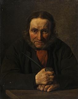 Portræt af en sømand med pibe i hånden
