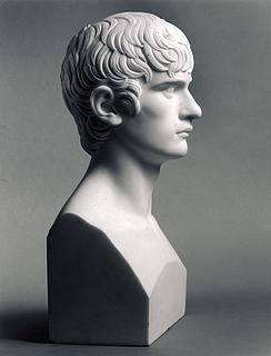 Thorvaldsen: Jacob Laurids Thrane, marmor, Dep. 36, deponeret fra Nordjyllands Kunstmuseum 1982