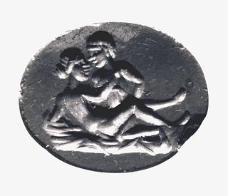 Erotisk scene. Hellenistisk-romersk ringsten