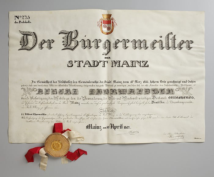 Æresborgerdiplom fra Staden Mainz