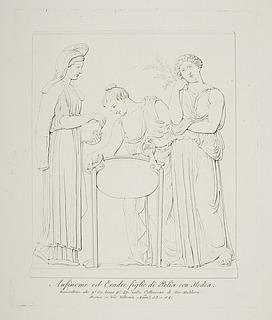 Anfinome ed Eradre figlie di Pelia con Medea ( Pelias' døtre hos Medea )