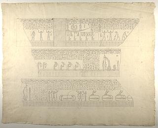 Figurer og hieroglyffer fra sarkofag