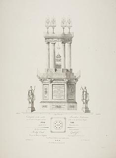 Katafalk for Pius 8.