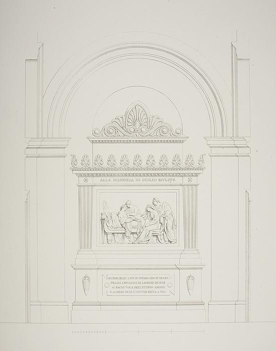 Relieffet Julius (Giulio) Mylius' død i Villa Vigoni, opstalt