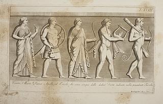 Venus, Mars, Diana og Apollon