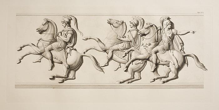 Hefastion og hærførerne Parmenio og Amyntas