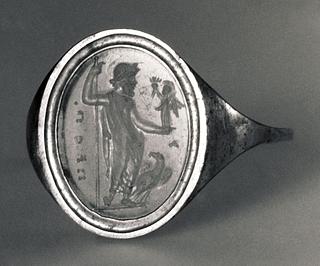 Zeus med Nike, scepter og ørn. Hellenistisk-romersk ringsten