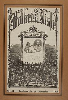 """""""Folkets Nisse"""" med portræt af Thorvaldsen"""