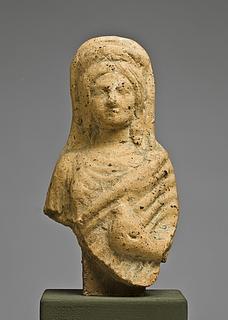 Statuette af en kvinde med en due. Italisk