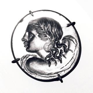 Buste af en havnymfe (?). Hellenistisk-romersk ringsten