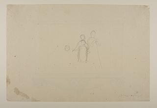 To personer og hovedet af en tredie til Alexander den Stores indtog i Babylon