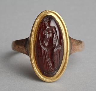 Afrodite. Græsk hellenistisk ringsten