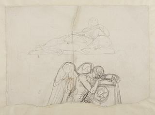 To skitser til gravmæler