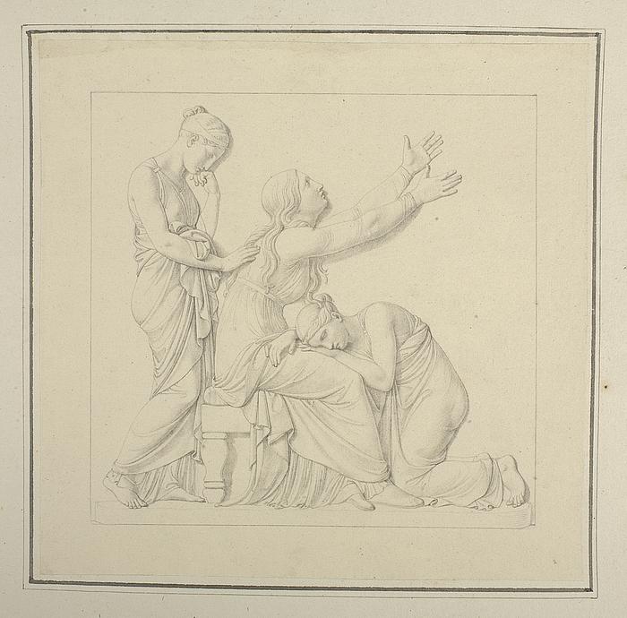 Johann Philipp Bethmann-Hollwegs sørgende mor og søstre