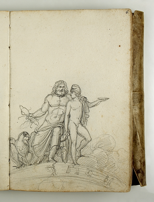 Jupiter med ørnen og Ganymedes på Dyrekredsen