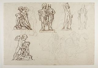 Achilleus og Penthesilea. Diomedes med Palladiet. Amor. Omfale. Orion dør. Kriger kæmper mod Amazone