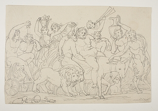Bacchusoptog med Bacchus og Ariadne på en vogn